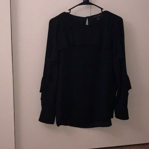 Banana Republic long sleeve black blouse